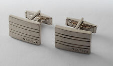 NAUTICA DESIGNER SILVER PLATED INDUSTRIAL DESIGN CUFF LINKS MEN'S JEWELRY NWOT