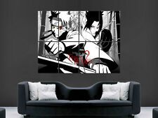 NARUTO VS SASUKE  BATTLE MANGA   ART WALL LARGE IMAGE GIANT POSTER