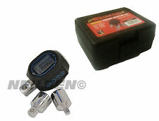 "3PC DIGITAL ELECTRIC TORQUE ADAPTOR SET + CASE 1/2"" - 3/8""  1/2"" - 1/4"" CT3547"
