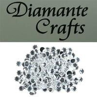 200 x 6mm Clear Diamante Loose Round Flat Back Rhinestone Craft Embellishments