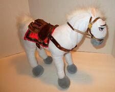 "Disney Store 15"" MAXIMUS Plush Stuffed TANGLED White Horse Princess Rapunzel"