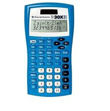Texas Instruments TI-30X IIS Scientific Solar Calculator Blue, New!