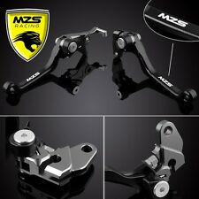 MZS Black Pivot Brake Clutch Levers For Suzuki DRZ 400 S/SM 00-11 DR250R 96-00