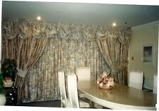 ROMO full curtains double layered pink, mauve and cream muted floral & tiebacks