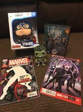 Marvel Avengers Bundle - Captain America Plush, Hulk Pop! Figure, DVD, Comics