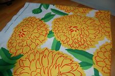 Marimekko yellow orange Primavera cotton fabric, half yard, Maija Isola, Finland