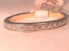 Ladies Wedding, Engagement, Anniversary band 10k Yellow Gold .15ctw