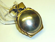 VINTAGE SOLID BRASS & SILVER ? LIGHTER -BALL DESIGN & ARROW DESIGN EDGE - 1900`S