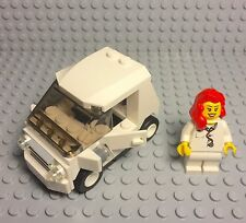 Lego New Custom City Smart Car W/ Red Hair Female Doctor / Nurse Mini Figure Set