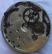Triple Date pocket watch movement balance broken some parts missing to restore