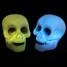 Colorful Led Skeleton Party Decoration Prop Bedside Table Light Halloween Lamp