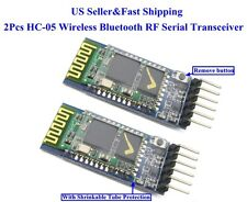 2Pcs HC-05 Wireless Bluetooth RF Serial Transceiver Module 6Pin RS232 TTL US