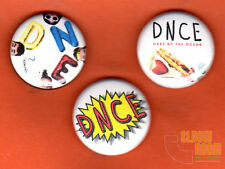"""Set of three 1"""" DNCE pins buttons cake by the ocean band Joe Jonas"""