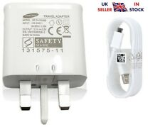 Rápido de Reino Unido Cargador De Pared + Cable Micro USB para Samsung Galaxy móvil + Tablet & Note