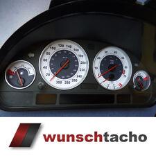 """Tachoscheibe für BMW E38-39/E53/X5  """"Carbon-Weiß.""""     Benziner"""