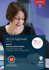 ACCA P1 Governance, Risk and Ethics: Study Text by BPP Learning Media...