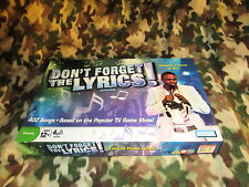 2008 Don't Forget The Lyrics Game w/ 400 Songs! 100% Complete - Wayne Brady