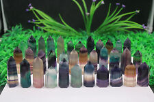 Wholesale Price!1780g Natural Fluorite Quartz Crystal Wand Point Healing #602