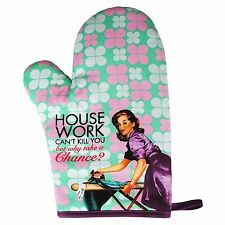 Novelty Housewife Oven Mitt - House Work Can't Kill You Funny Humorous Gift For