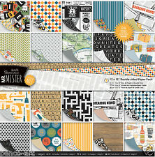 Papermania 24 scrapbooking paper Mr Mister 12x12 160gm Fathers day Birthday Men