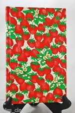 Quillmark Vintage STRAWBERRY PRINT notebook blank diary planner travel journal