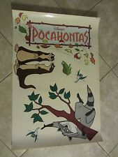 POCAHONTAS movie poster -  original Vinyl Window Cling # 1