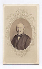 PHOTO CDV Carte de visite Homme Ovale Moustaches Meurisse Metz vers 1880