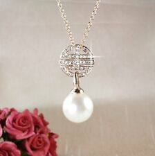 N1 Art Deco Style Crystal and Pearl Necklace  -  Gift boxed