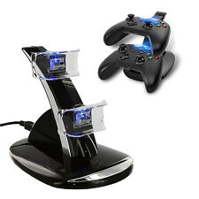 LED 2 Charging Dock Station Charger for Xbox One Controller w/ PC/USB Adapter
