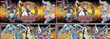 set of 4 Yugioh 2 Dark Magician Girl +2 Blue-Eyes white Dragon Playmat Mouse Mat