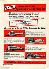1960 ADVERT Tyco Toy Train Sets Early Bird East West Southern Pacific Chemical