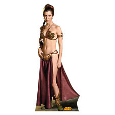 PRINCESS LEIA Star Wars Slave Outfit CARDBOARD CUTOUT Standup Standee Poster F/S