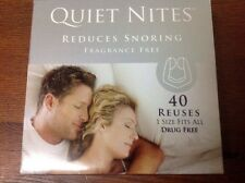 Quiet Nites (reduces Snoring) Fragrance Free, Drug Free, 40 Uses 1 Size Fits All