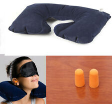 Car Flight Travel Soft Portable Inflatable Neck Rest Cushion U Pillow Support US