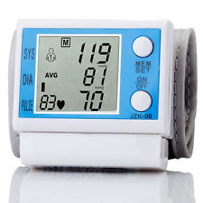 Digital LCD Wrist Arm Blood Pressure Pulse Upper Monitor Heart Rate Meter Health