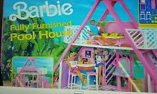 1990s Barbie Pool House new in box with furniture Mattel