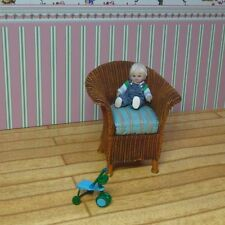 OOAK Miniature Handmade Sculpt Miniature Boy Dolls House 1/24 scale.