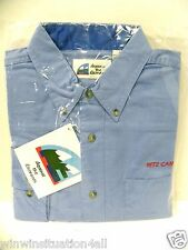 New RITZ CAMERA Mens Extra Large XL Blue, Long Sleeve, Twill. Button Up Shirt