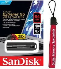 SanDisk 64GB USB CZ800 64G Cruzer EXTREME GO USB 3.1 200MB/s SDCZ800-064G +Lanya