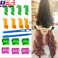 18Pcs DIY Hair Curler Roller Hair Curling Wand Spiral Circle Magic Leverag Curl