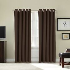 Thermal Fully Lined Solar Blackout Heavy Duty Pair Of Eyelet Ring Top Curtains