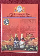 1978 Print Ad San Miguel Beer ~ 4-Year-Old King Alphonso XIII in the Philippines