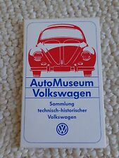 1x RARE Volkswagen 1980's AutoMuseum Sticker / Badge Sammlung Technisch Type 1