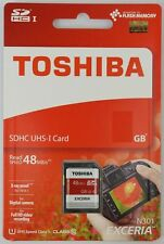 Toshiba 64GB SDHC SDXC SD HC UHS-I Class 10 48MBs High Speed Camera Memory Card