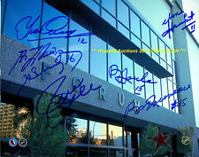 MONTREAL FORUM Outside FACADE 8x10 AUTO Signed by 7~LAFLEUR~RICHARD~COURNOYER