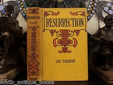 1900 1st English ed The Resurrection by Leo Tolstoy Russian Literature Georgism