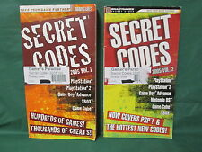 LOT OF 2: Brady Games Secret Codes 2005 Vol 1 & 2 (Playstation, 2, GBA, Xbox, Ga