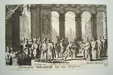 Persien Iran Teheran Palast Schah König   Küsell nach J. Baur  Kupferstich  1682