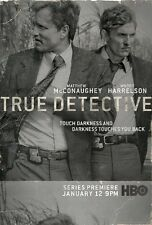 POSTER TRUE DETECTIVE MATTHEW McCONAUGHEY WOODY HARRELSON RUST COHLE SERIE TV #1