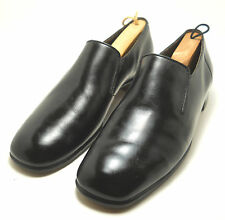 BALLY MATARO SILVER WING  BLACK LEATHER  LOAFERS SHOES SIZE 10.5 C ~  RETRO ~